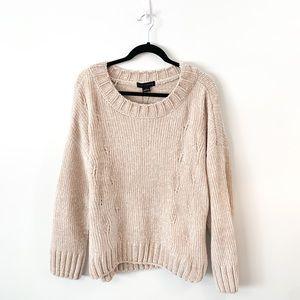 NWT Sanctuary Cream Chunky Chenille Knit Sweater L